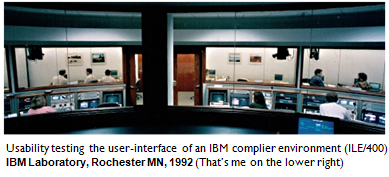 Usability testing in the IBM Rochester Minnesota Lab, 1992.
